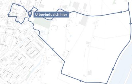Routekaart Beleefboeken route