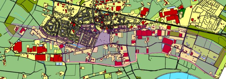 Evacuatieplan voor een aantal woningen in Baarlo